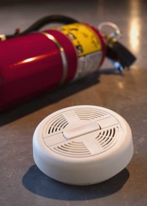 extinguisher and alarm